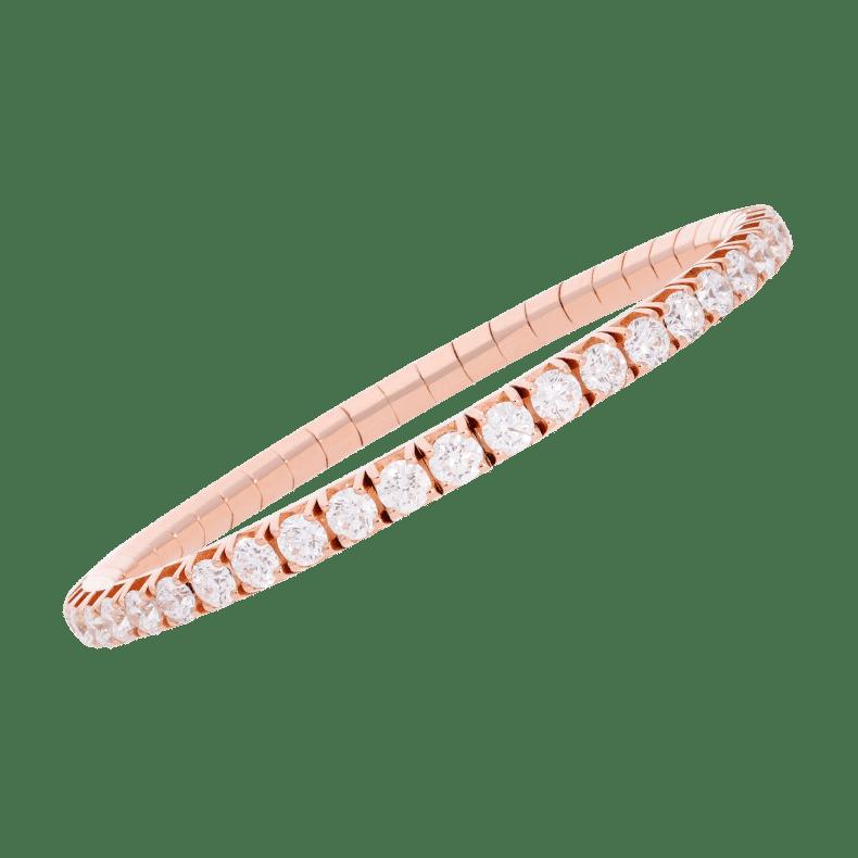 Extensible woman's collection diamonds elastic tennis bracelet