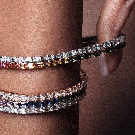 lookbook extensible tennis bracelet