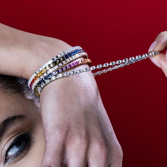 elastic tennis bracelet men's