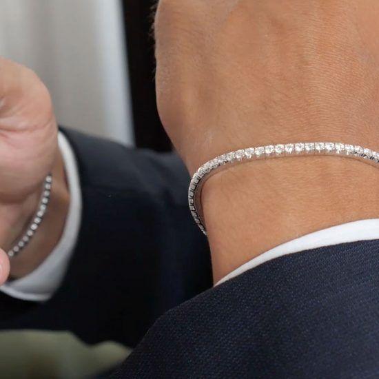 extensible man elastic tennis bracelet