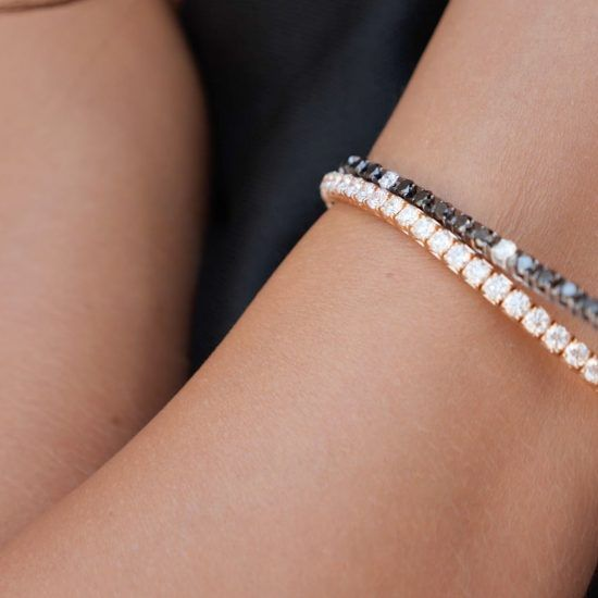 Extensible woman's collection diamonds elastic tennis bracelet