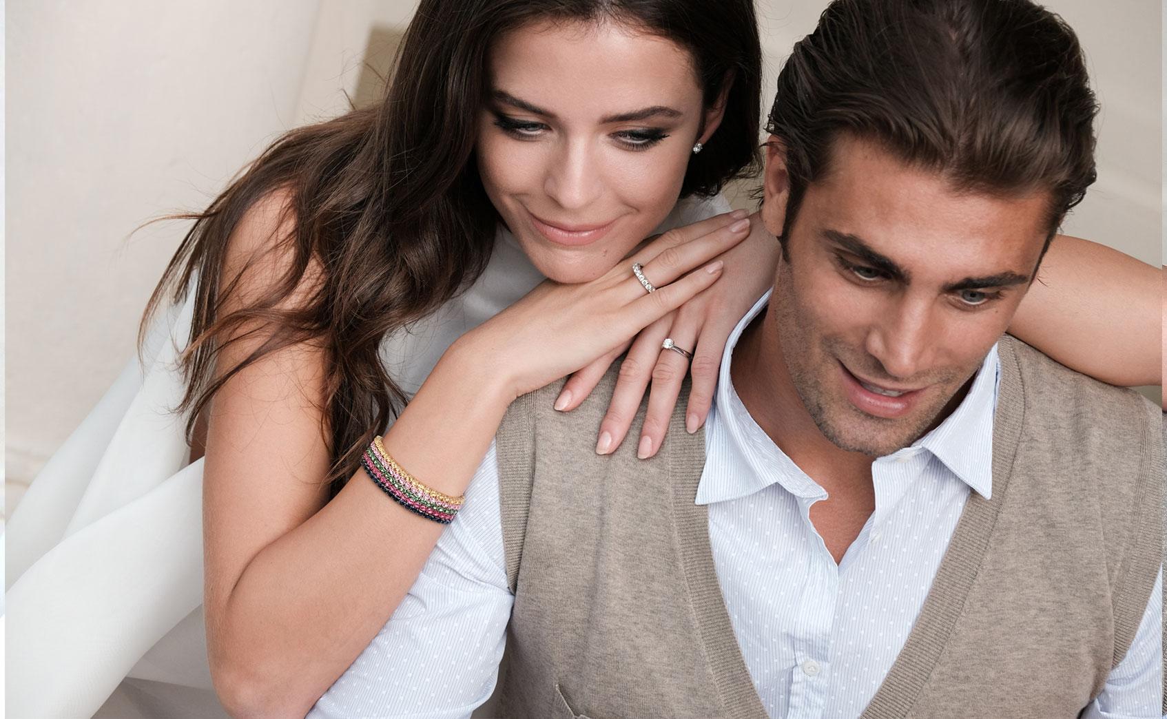 extensible couple elastic tennis bracelet