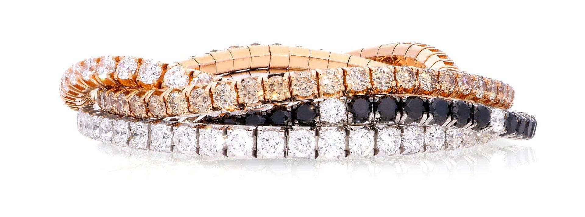 extensible diamonds elastic tennis bracelet